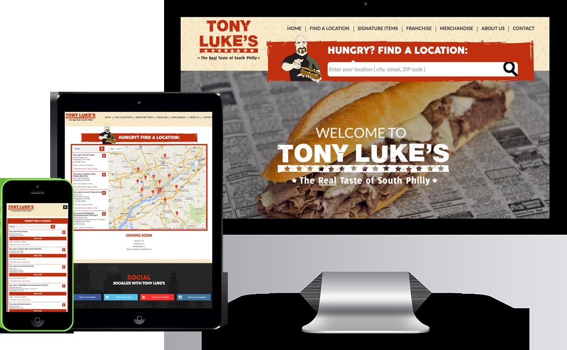 tony lukes website design