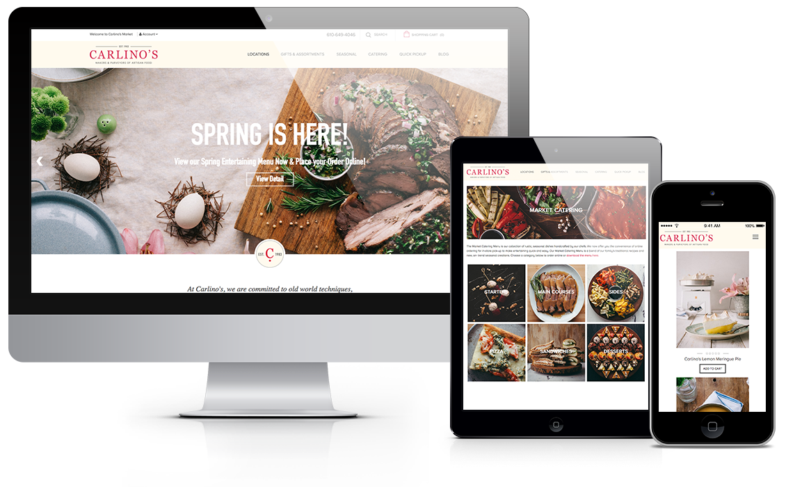 carlinos market website design