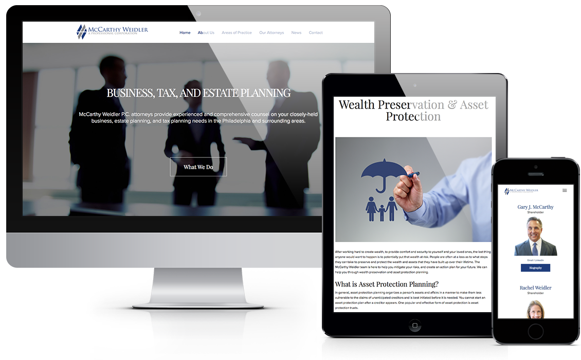 mccarthy weidler website design