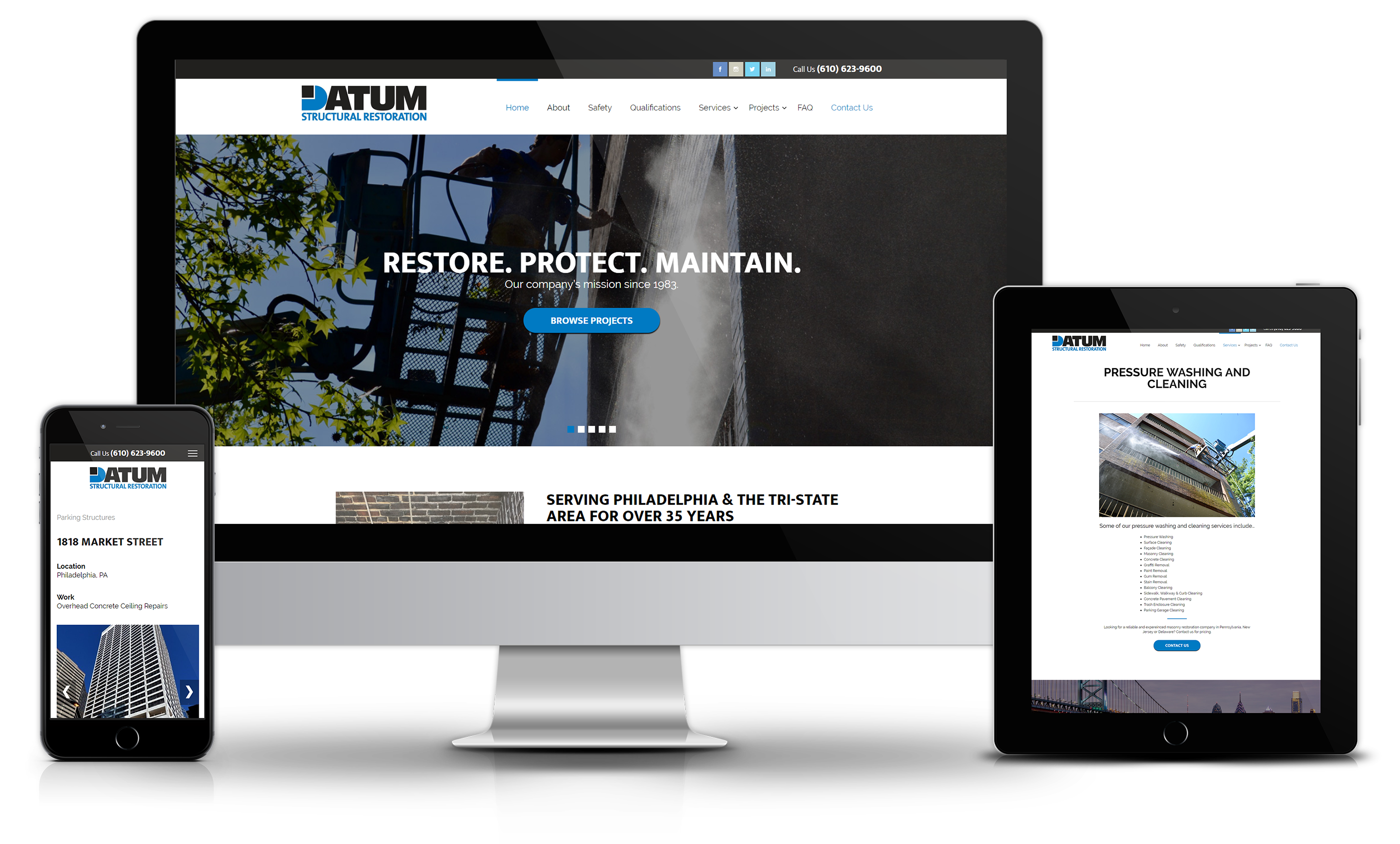 Masonry Website Design