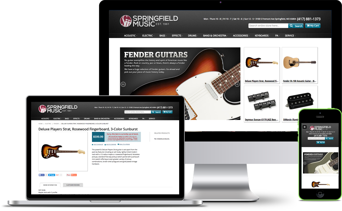 music store web design